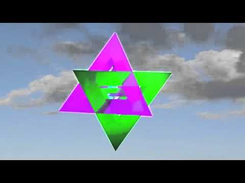 merkabah image green and pink